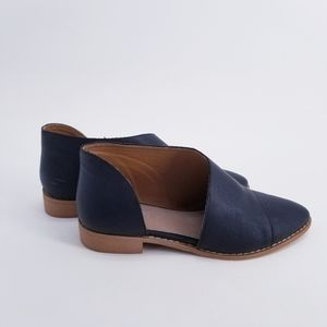 Mi.iM Harley Side Cutout Leather Shoes